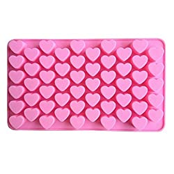 55 Mini Heart Silicone Pralines Mold Baking Mold, Bolayu Ice Cubes Chocolate Confectionery Truffles