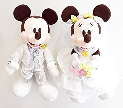 Mickey And Minnie Wedding.Amazon Com Mickey Mouse And Minnie Mouse Wedding Doll Pair Stuffed