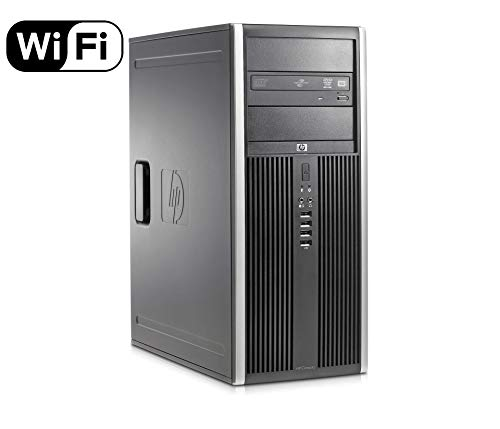 HP Elite 8300 Premium High Performance Business MiniTower Desktop PC, Intel Quad-Core i5-3470 up to 3.6GHz, 8GB DDR3, 120GB SSD + 500GB HDD, DVD, WIFI, Windows 10 Professional (Certified - Ssd Mini 1000 Hp