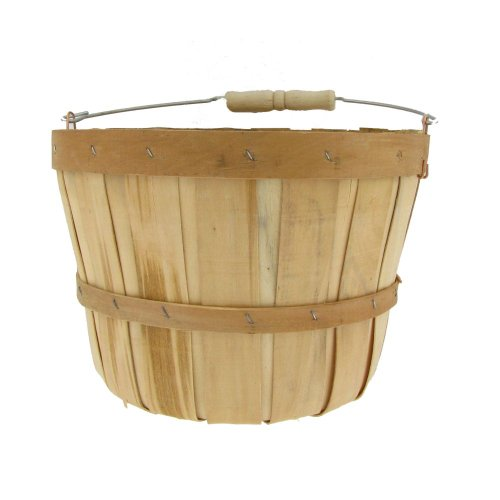 Texas Basket Co. Natural Half Peck Basket with Handle