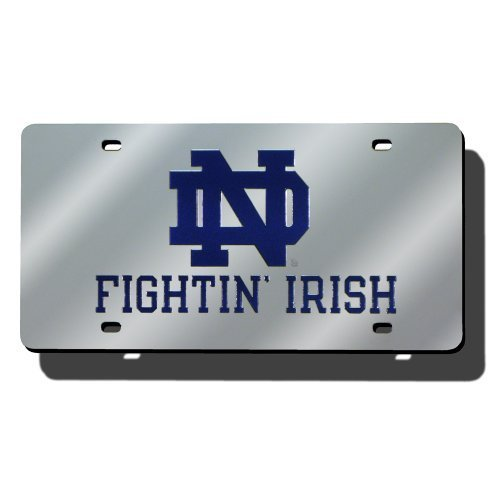 Rico Industries RIC-LZS200301 Notre Dame Fighting Irish NCAA Laser Cut License Plate Cover by Rico ()