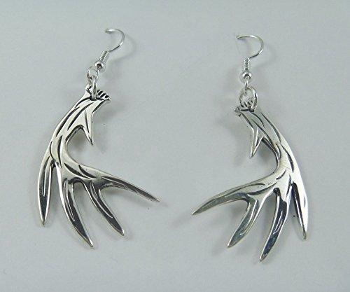 Whitetail Ring - J Pool Wildlife Collection Handmade Sterling Silver Whitetail Deer Antler Earrings