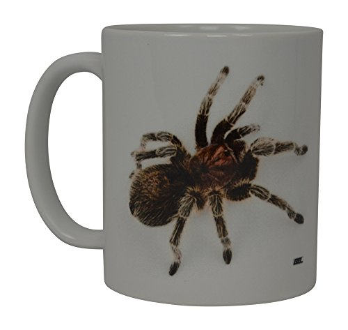 Funny Coffee Mug Scary Spider Rose Tarantula Realistic Novelty Cup Great Gift Idea For Men Women Office Party Employee Boss Coworkers (Rose Tarantula) ()