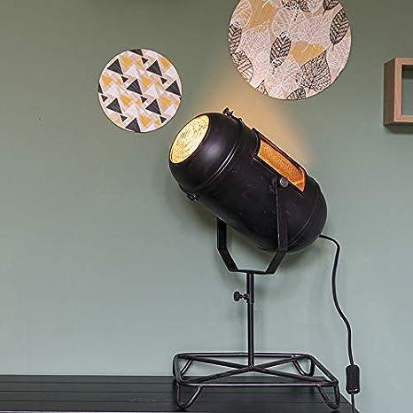 QAZQA Retro/Vintage Lámpara de mesa vintage foco de cine ...