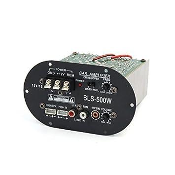 Amazon.com: Stereo DealMux veículo automóvel DC 12V Receiver Audio Power Board Amplificador Digital: Car Electronics