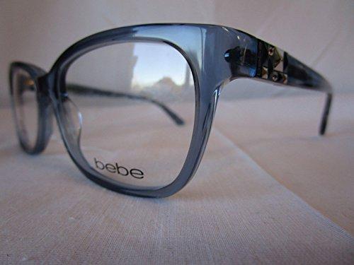 BEBE EYEGLASS FRAME WISH BB5139 042 SAPPHIRE CLEAR BLUE -