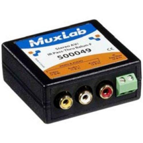 MuxLab Inc 500049 Stereo A/V/IR Pass-Thru Balun, Female