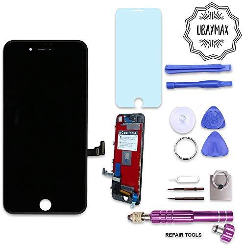 UBaymax Kompatibel iPhone 7 Bildschirm Schwarz LCD Display Touchscreen Kompatibel iPhone 7 Ersatz Bildschirm Front Komplettes Glas kompatibel iPhone 7