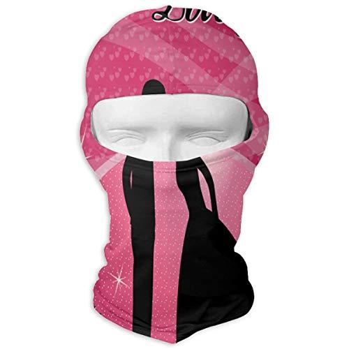 Balaclava Beautiful Happy Valentine's Day Full Face Masks UV Protection Ski Hat Womens Neck Warmer for -