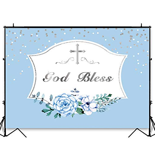 First Communion Photo Invitations - Funnytree 8x6ft Durable Fabric First Holy