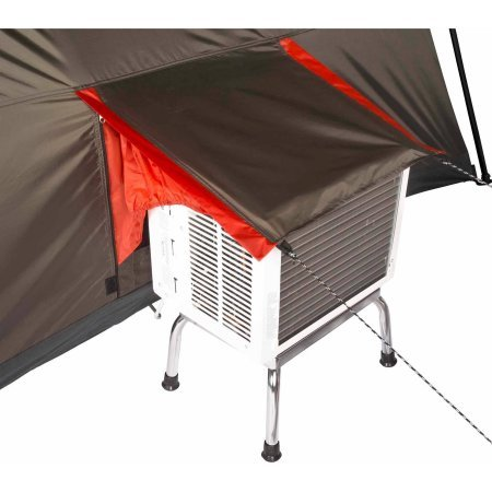12 Person Instant Cabin 16×16 3-room Tent in Brown/Red