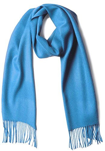 Luxury 100% Pure Baby Alpaca Wool Scarf for Men & Women - A Great Gift Idea in Many Colors (Sky ()