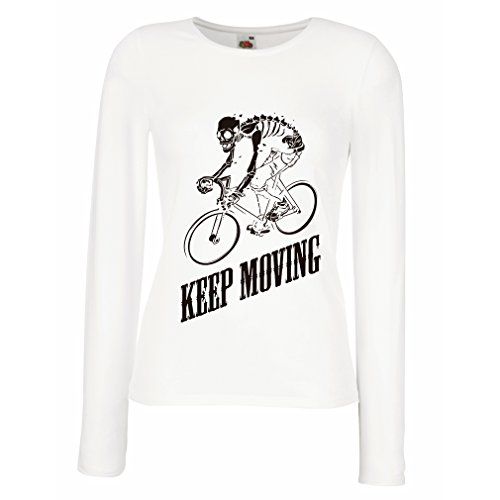 T shirt women Motivational Quotes - The life is like riding a bicycle. To keep your balance, you (Bsa Uniform Large)