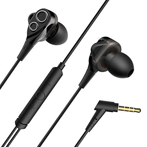 VAVA MOOV 11 in Ear Earbud Headphones with Dual Drivers, High-Fidelity Audio and Deep Bass, Wired Earphones with Snug and Soft Design, Inline Controls for Hands-Free Calling (3.5mm Jack)
