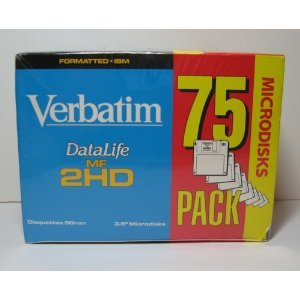 Verbatim DataLife MF 2HD 3.5'' Diskettes (75-Pack) by VERBATIM CORPORATION