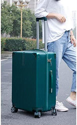 20 Carry-On /& 28 Checked Suitcase Color : Dark Green, Size : 20 Minmin-lgx Luggage Lightweight Hardside 4-Wheel Spinner Luggage Set