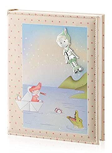 Fotoalbum und Tagebuch – Baby Collection – Linie Märchen – Creme – cm 25 x 30 BI Laminat Silber Kunstleder made