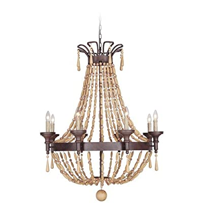 Jeremiah Lighting 36828 Berkshire Single Tier 8 Light Empire Chandelier - 33.5 I,