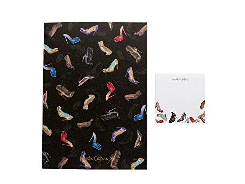 Notebook and Sticky note Set Bundle Made in Japan -Shoe/High heel pattern- Stripped notebook. -