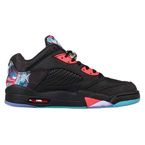 ... Nike - Air Jordan 5 Basse Rétro Cny   Rare   - Noir Brillant Crimson  Blue ... 9bab35efae2