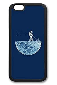 6 Plus Case, iPhone 6 Plus Case Astronaut Mowing The Moon Creativity TPU Silicone Gel Back Cover Skin Soft Bumper Case Cover for Apple iPhone 6 Plus by runtopwellby Maris's Diary