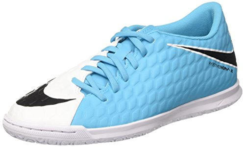 Nike Hypervenomx Phade Iii IC Mens Indoor Competition Football Boots 852543 Soccer Cleats (Uk 8 Us 9 Eu 42.5, White Black Photo Blue 104) (James Rodriguez Shoes Soccer)