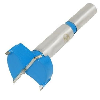 eDealMax 28 mm Diámetro Forstner Consejo Bisagra herramienta del taladro poco aburrido para Carpintería Azul Gris