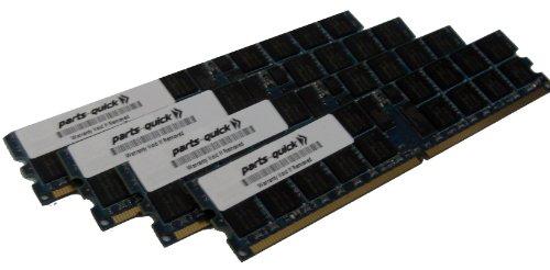 16GB Kit 4 x 4GB Memory for Dell PowerEdge 470n Server PC2-3200R ECC Registered DDR2-400MHz 240 pin 1.8v DIMM (PARTS-QUICK BRAND)