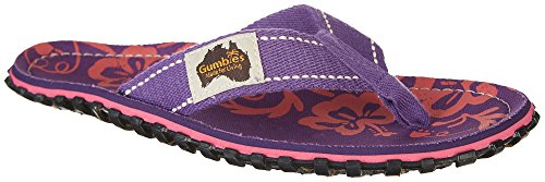 Gumbies Islander Retro Brown Flip Flop Purple rK3Mtxp
