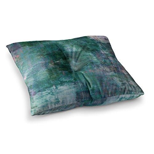 KESS InHouse Ebi Emporium Planet Teal Blue Painting Square Floor Pillow x - Blueplanet.com