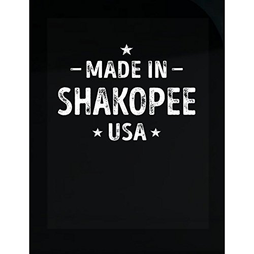 Inked Creatively Made in Shakopee City USA Sticker -