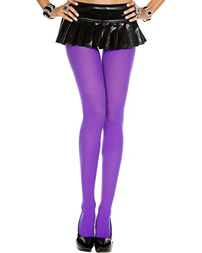Plus Size BBW Costume Opaque Tights - QUEEN -