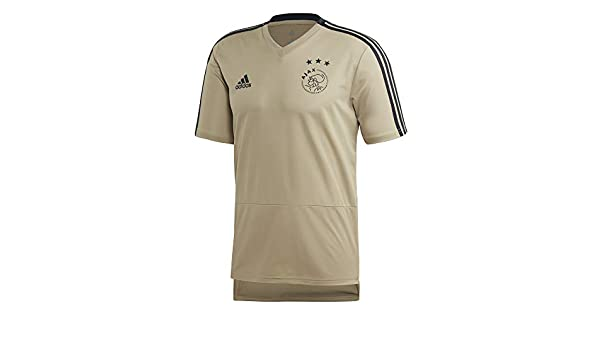 9a845f5e356 Amazon.com   adidas 2018-2019 Ajax Training Football Soccer T-Shirt Jersey  (Raw Gold)   Sports   Outdoors