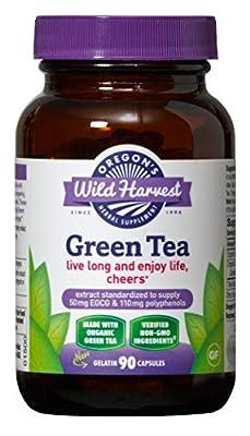 Oregon's Wild Harvest Green Tea Supplement, 90 Capsules