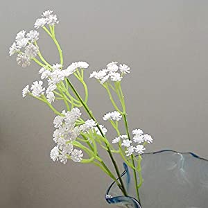 Liinmall 6 Branches Sky Star Artificial Flowers Pastoral Style Baby Breath Tabletop Flower Home Decor 3