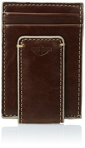 dockers-mens-card-holder-front-pocket-slim-minimalist-wallet-with-money-clip-tan-one-size