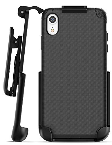 Encased iPhone XR Belt Clip Holster Case, Ultra Thin Grip Protective Cover with Belt Holder for Apple iPhone XR Phone (Nova Series) Black