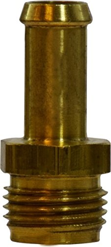 Midland 38-834 Brass Hose Barb, Inverted Flare Male Connector, 3/8