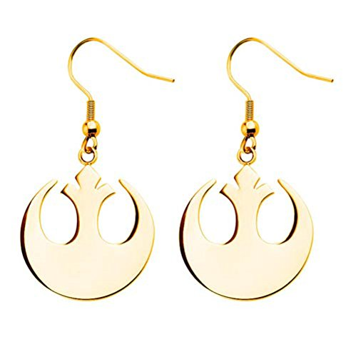 Licensed Star Wars Rebel Alliance Stainless Steel Dangle Earrings (with Gift Box)