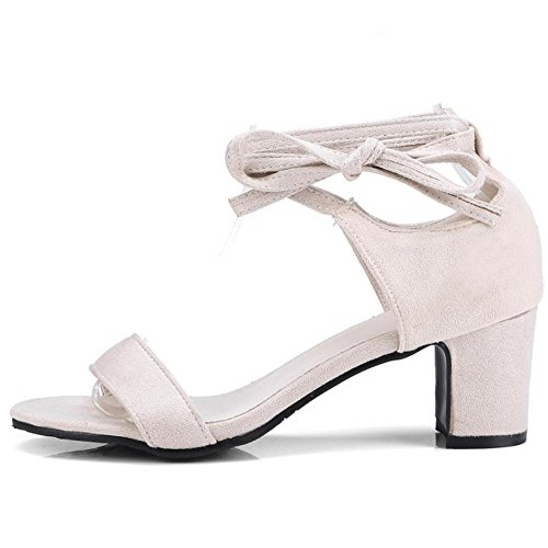 Femmes 2 TAOFFEN Bout Beige Ouvert Sandales Chaussures t8q8gY