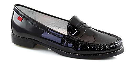 Marc Joseph NY Women's Fashion Shoes East Village Black Patent Leather Penny Loafer Size 10 (More Colors & Sizes Available)