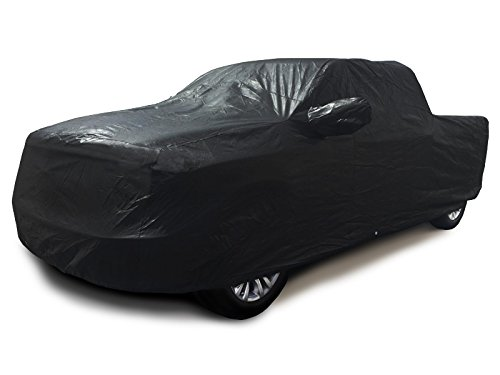 CarsCover 100% Sunblock Custom Fit 2001-2018 Ford F150 Crew Cab 6.5ft Short Bed Box Truck Car Cover Xtrashield Black