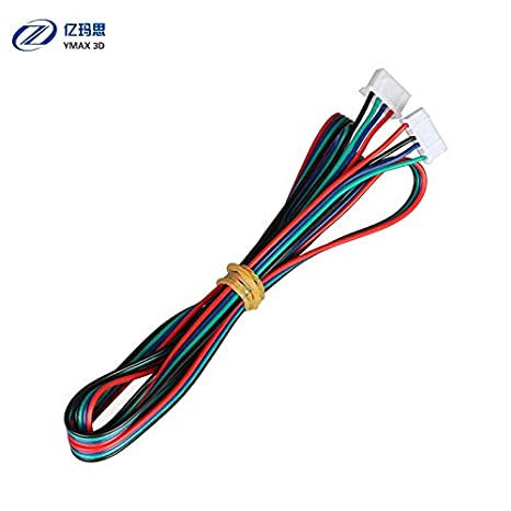 Impresora 3D – 5 piezas XH2.54 1 metro Dupont Cable 4 Pin Motor ...