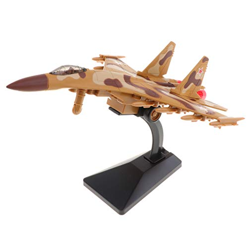 (DYNWAVE Russia SU-35 Diecast Airplane Model, Aviation Warplane Toy with Pull-Back , Best Birthday for Kids (Yellow))