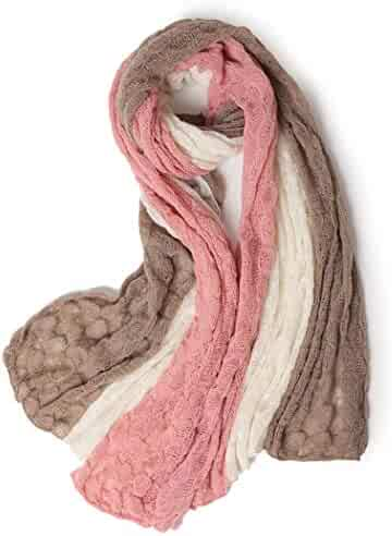 cd70790967e GJFeng Autumn and Winter New Scarf Knit Ladies Fashion Warm Bubble  Stitching Style Cashmere Scarf Warm