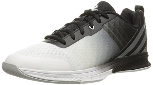 adidas Women's Volley Assault 2 W Volleyball Shoe, Black/Matte Silver/Light Onix, 6 M US by adidas