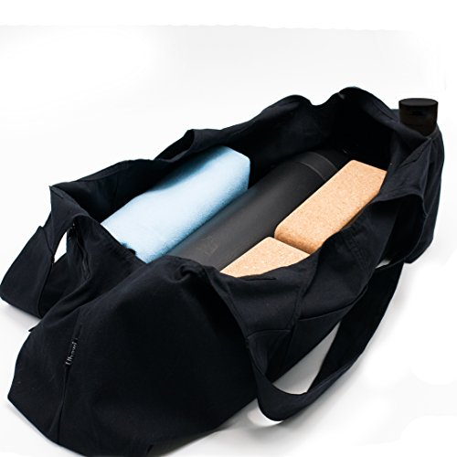 Uhawi Yoga Mat Bag Large Yoga Mat Tote Sling Carrier with 4 Pockets Fits Mats with Multi-Functional Storage Pockets Light and Durable(with Yoga Mat Carrying Strap)