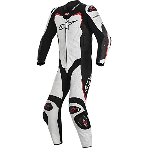 Alpinestars Gp Pro Leather Suit, 1 Piece (Black/White/Red,Size ()