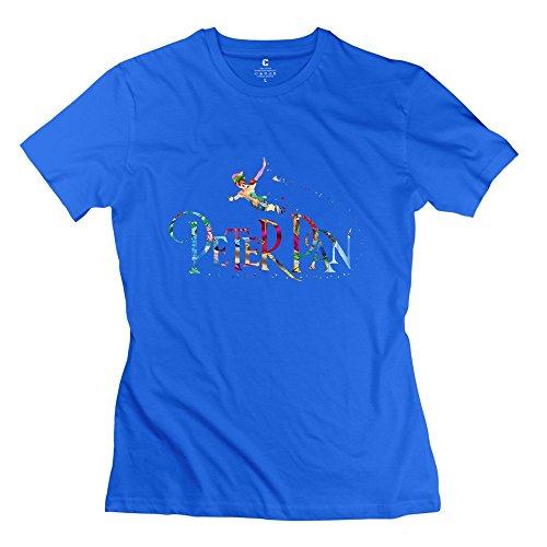 Womens Customizable Ring Spun Cotton T-shirt/2015 Peter Pan RoyalBlue
