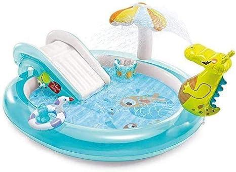 YF-SURINA Piscina para niños con tobogán inflable y tobogán - Piscina de cocodrilo Plataforma para rociar agua para niños,203cmX173cmX89cm,203cmX173cmX89cm: Amazon.es: Bricolaje y herramientas